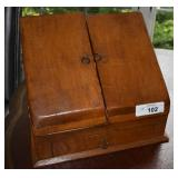 Vintage / Antique Wooden Desk-top Letter Box