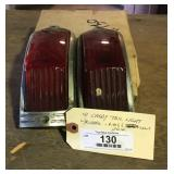 1941 Cadillac Tail LIght Chrome Frames & Lenses