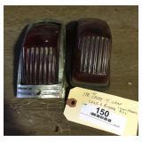 1941 Cadillac Chrome Tail LIght Frame & (2) Lenses