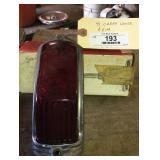 1941 Cadillac Rear Tail Light Lens & Chrole Frame