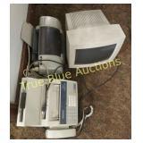 Computer Monitor, Fax Machine, Printer