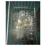 Glass Vases, Glass Cups, Plastic Bins