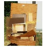 Carpeners Tool Box & Variety of Wood
