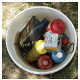 Plastic Can with Oil & Various Fluids