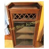 Hardwood Cabinet with Glass Inlay