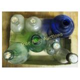 Colored Glass Bottles & More