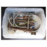 Miscellaneous Hardware in Plastic Bin