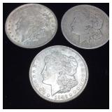 (3) 1921 MORGAN SILVER DOLLARS 90% SILVER