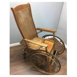 ANTIQUE COLSON CARRIEGE COMPANYWHEELCHAIR WITH