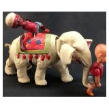 ANTIQUE CELLUIOD HENRY & MAHOUT ON ELEPHANT WIND