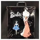 VINTAGE BUBBLECUT BARBIE AND ACCESORIES WIH CASE