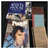 VINTAGE WHITE HOUSE, PEOPLE MAG, SCHOOL BOOKS