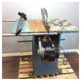 CENTRAL MACHINERY INDUSTRIAL TABLE SAW W/ BLADES
