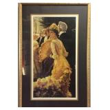 VINTAGE VICTORIAN LADY FRAMED PICTURE