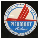 VINTAGE PIEDMONT AIRLINES PORCELAIN SIGN