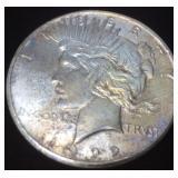 1922 SILVER PEACE DOLLAR SAN FRANCISCO MINT