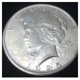 1925 SILVER PEACE DOLLAR PHILLY MINT