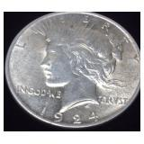 1924 SILVER PEACE DOLLAR POSSIBLE '