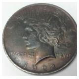 1922 SILVER PEACE DOLLAR VERY NICE TONE