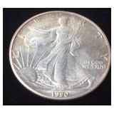 1990 99.9% SILVER EAGLE DOLLAR
