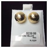 2.0DWT 14kt YELLOW GOLD EARRINGS