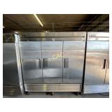 True Stainless Steel 3 Door Freezer