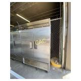 True Stainless Steel 2 Door Refrigerator
