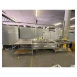 Stainless Steel Counter with 3 sinks
