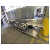 Stainless Steel Counter w/3 sinks