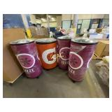 4pc Beverage Coolers on wheels