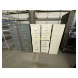 5pc Metal File Cabinets