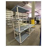 5pc Heavy Metal & Plastic Shelving