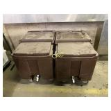 2pc Cambro Cooler Cart