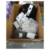 Box Lot of Fixtures and Commercial Door Hardware