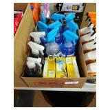 Box Lot of Granite Cleaner, Glass Cleaner and Bags