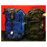 Glock Back Packs- 1 Black & 1 Blue