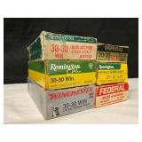 6boxes of 30-30 Asst Brand Ammo