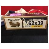 520rds 7.62x39 Monarch FMJ