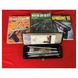 Lot of Gun Cleaning Kits & 3 Gun Books
