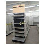 4 Sections of Metal Store Shelving (Two Sides)