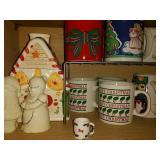 Christmas Mugs and Decor