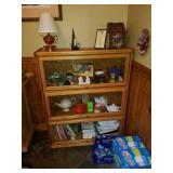 3 shelf glass door cabinet