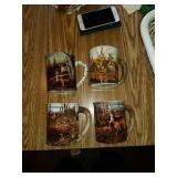 4 pc Wild Wings mug set