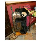 Holiday stuffed Bear with sled