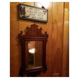 Mirror and plaque