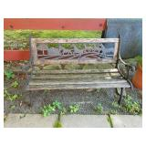 Iron horse bench