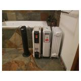 3 heaters and air purifier