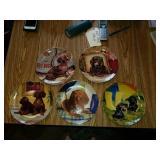 5 Danbury Mint plates