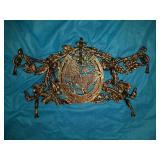 Horse iron coat rack