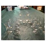 Various Wine glasses  and carafe